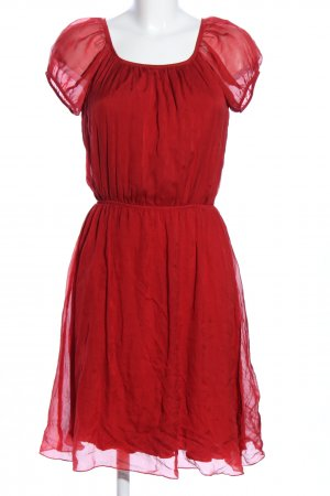Hallhuber Robe bustier rouge style décontracté