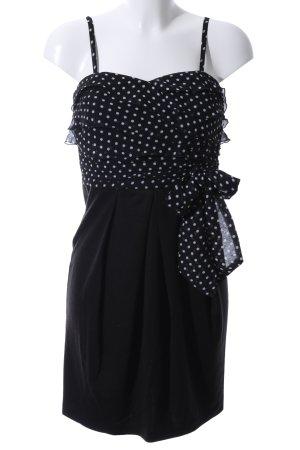 Hallhuber Robe bustier noir-blanc motif de tache style décontracté