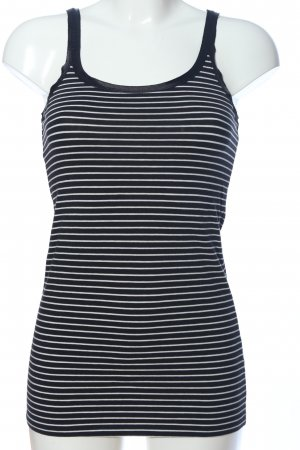 Hallhuber Camisole schwarz-weiß Streifenmuster Casual-Look