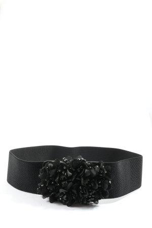 Hallhuber Canvas riem zwart casual uitstraling