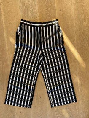Hallhuber Spodnie Capri biały-czarny
