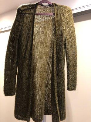Hallhuber Donna Cardigan a maglia grossa cachi