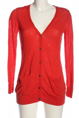 Hallhuber Cardigan rot Casual-Look