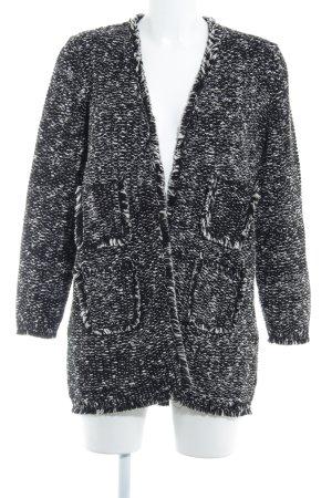 Hallhuber Cardigan schwarz-weiß Casual-Look