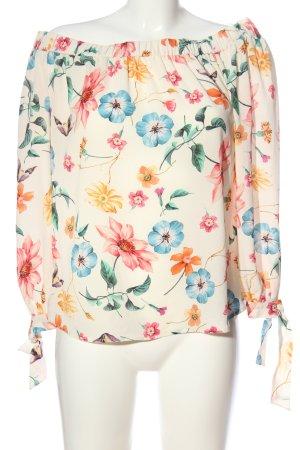 Hallhuber Carmen-Bluse Blumenmuster Casual-Look