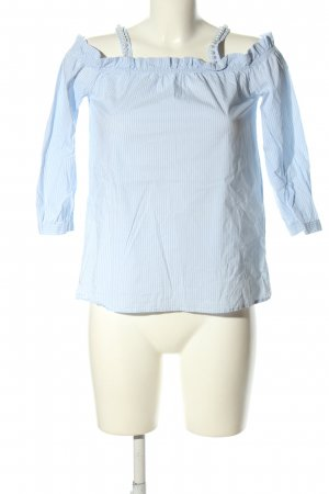 Hallhuber Carmen Blouse blue-white striped pattern casual look