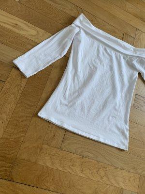 Hallhuber Camisa tipo Carmen blanco