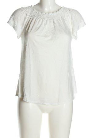 Hallhuber Top épaules dénudées blanc style décontracté