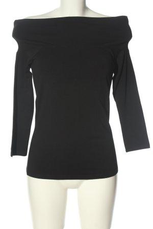 Hallhuber Carmen shirt zwart casual uitstraling