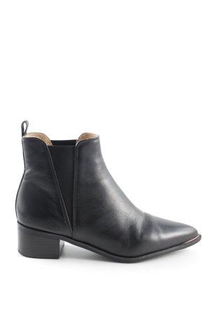 Hallhuber Chelsea Boots 39 38 Echtleder Ankle Blockabsatz Spitz jensen Stiefelette