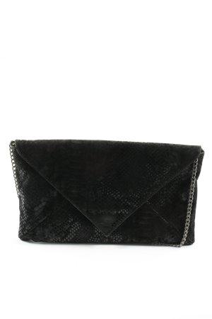 Hallhuber Clutch black animal pattern elegant