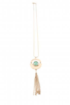 Hallhuber Collier Necklace gold-colored-turquoise casual look