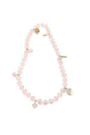 Hallhuber Collier goldfarben-pink Elegant