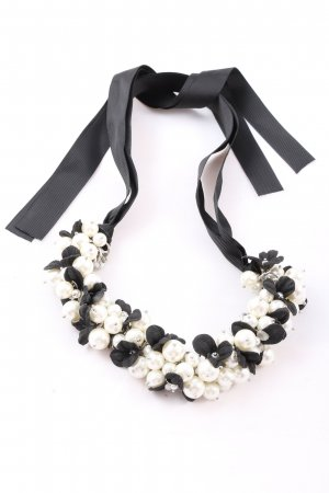 Hallhuber Collier Necklace black-white casual look