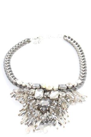 Hallhuber Collar estilo collier color plata elegante
