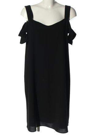 Hallhuber Robe découpée noir style décontracté