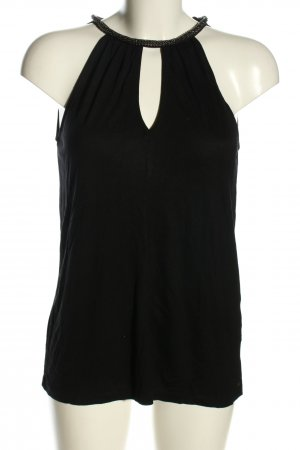 Hallhuber Cut Out Top black casual look