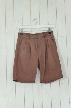 HALLHUBER Damen Shorts Baumwolle Braun Kurze Hose Gr.36