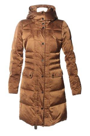 Hallhuber Manteau en duvet bronze motif de courtepointe style décontracté