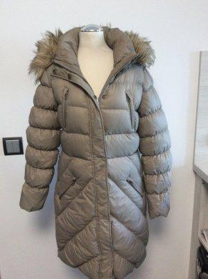 Hallhuber Abrigo de plumón marrón grisáceo
