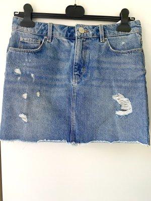 Hallhuber Jupe en jeans bleu