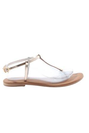 Hallhuber Sandały japonki brązowy-złoto W stylu casual