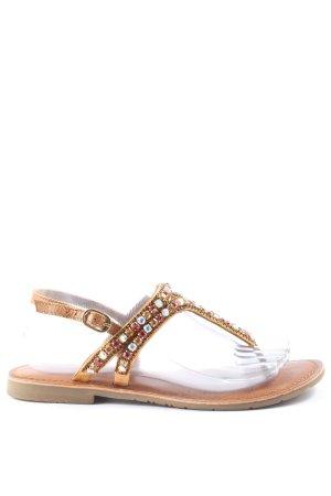 Hallhuber Dianette sandalen geborduurde letters casual uitstraling