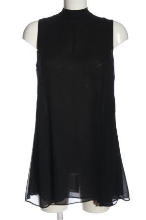 Hallhuber Donna ärmellose Bluse schwarz Elegant