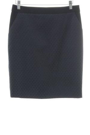 Hallhuber Donna Bleistiftrock schwarz-dunkelblau Elegant