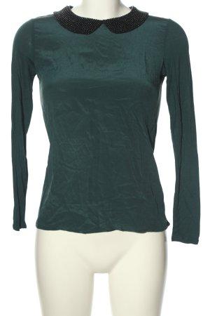 Hallhuber Donna Silk Blouse green-black casual look