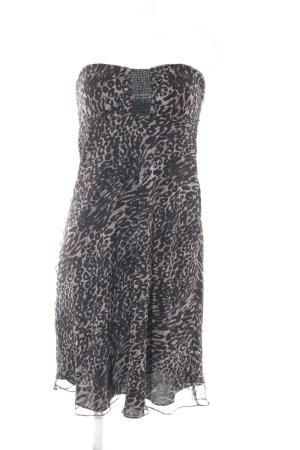 Hallhuber Donna Bustierkleid schwarz-beige Leomuster Animal-Look