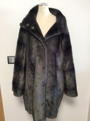 Hallhuber Donna Fake Fur Coat anthracite