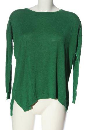 Hallhuber Donna Feinstrickpullover grün Casual-Look