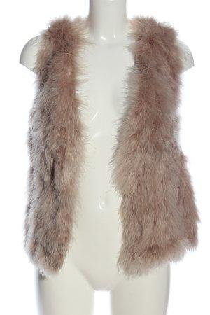 Hallhuber Donna Fur vest cream casual look