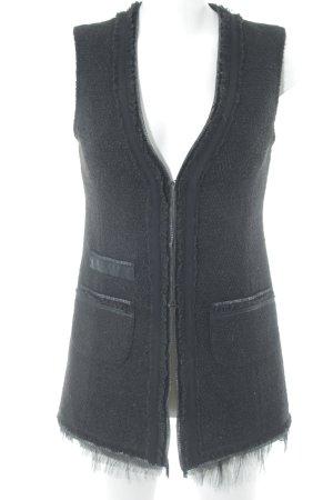 Hallhuber Donna Fringed Vest black elegant