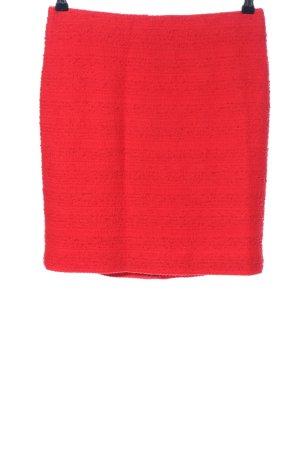 Hallhuber Donna Jupe taille haute rouge style décontracté