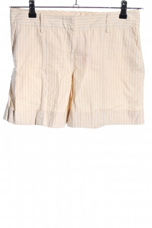 Hallhuber Donna High-Waist-Shorts creme Streifenmuster Casual-Look
