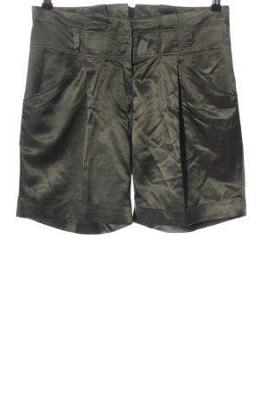Hallhuber Donna Hot Pants khaki Glanz-Optik