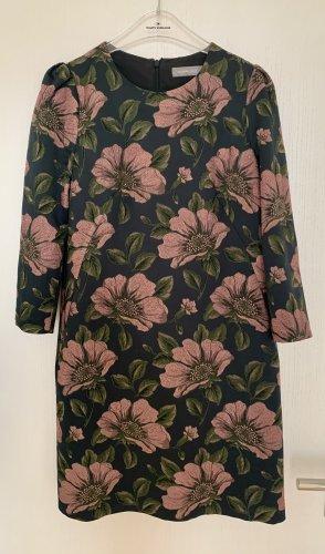Hallhuber Donna Kleid Etuikleid Blumenprint Blumenmuster Seide