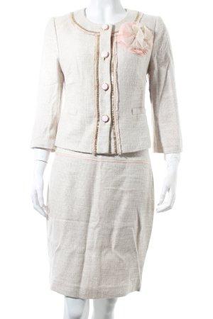 Hallhuber Donna Traje para mujer beige claro-rosa elegante
