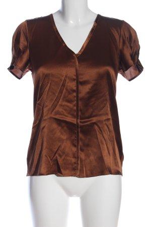 Hallhuber Donna Kurzarm-Bluse bronzefarben Casual-Look