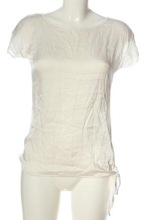 Hallhuber Donna Kurzarm-Bluse wollweiß-weiß Elegant