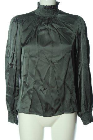Hallhuber Donna Langarm-Bluse grün Elegant