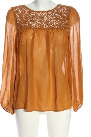 Hallhuber Donna Langarm-Bluse hellorange Elegant