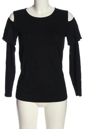 Hallhuber Donna Langarm-Bluse schwarz Casual-Look
