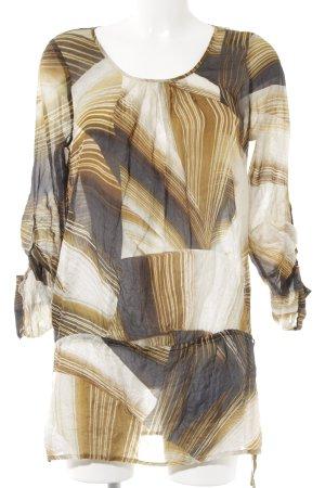 Hallhuber Donna Langarm-Bluse abstraktes Muster schlichter Stil