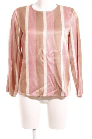 Hallhuber Donna Langarm-Bluse mehrfarbig Glanz-Optik