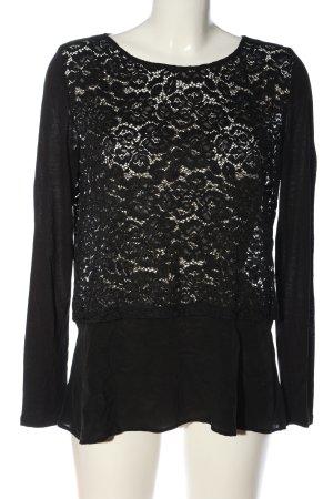 Hallhuber Donna Langarm-Bluse schwarz Elegant