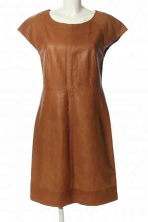 Hallhuber Donna Robe en cuir brun style décontracté