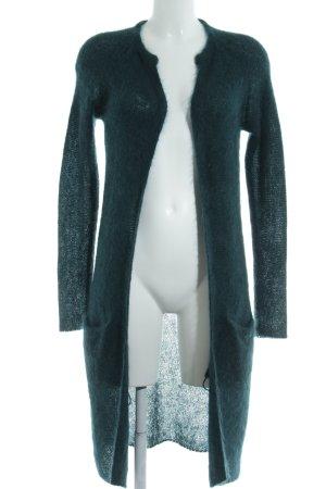 Hallhuber Donna Longstrickweste waldgrün Webmuster Casual-Look